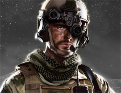 Soldier Wearing a Night Vision Device